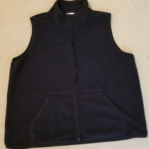 dark navy fleece vest